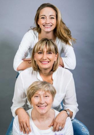 Bilde av kvinner fra tre generasjoner