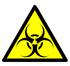 Skilt med symbolet for biologisk fare