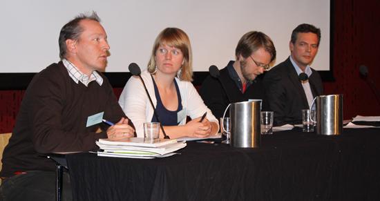 Paneldebatt med Christian Anton Smedshaug, Ane Hansdatter Kismul, Kaare M. Bilden og Bjarne Schieldrop