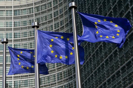 EU-flagg i Brussel