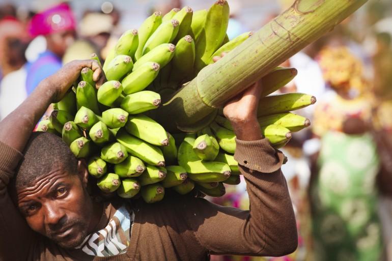 mann med bananer