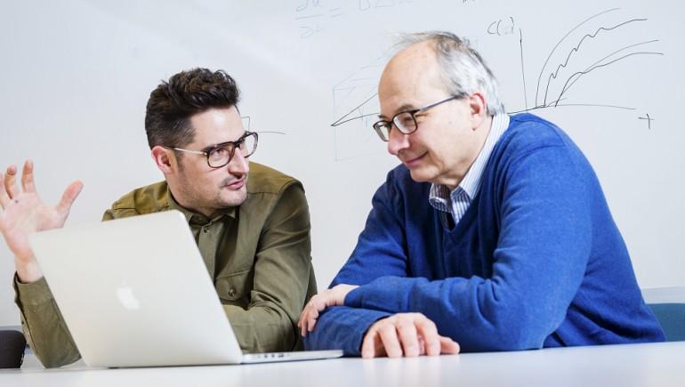 Postdoktor Alvaro Köhn-Luque (t.v.) og professor Arnoldo Frigessi, Avdeling for biostatistikk.