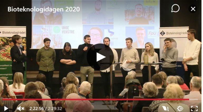 ugdomspolitikere diskuterer under Bioteknologidagen 2020